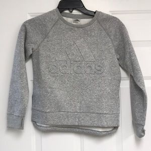 adidas Girl's Logo Pullover Sweatshirt